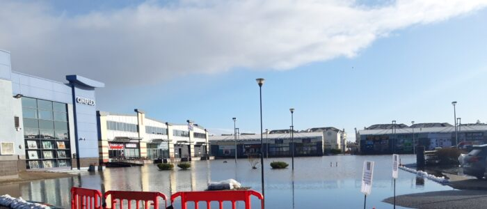 Picture of flooded car park